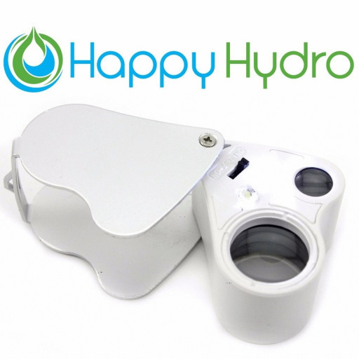 Includes Batteries /& Carrying Case Happy Hydro LED Loupe 30x /& 60x Magnifying Lens