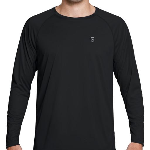 Sun Protection Long Sleeve Hoodie Quick Dry Lightweight Running Outdoor Shirt Soniz Mens UPF 50