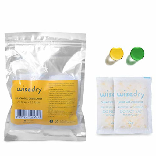 Wisedry 50 Gram Rechargeable Silica Gel Desiccant Packets Fast Reactiva 6Packs